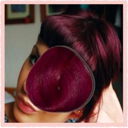 Haarfarbe leicht rosa